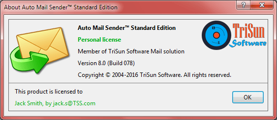 About Auto Mail Sender™ Standard Edition
